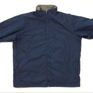 Columbia men navy blue jacket fleece-lined coat XL
